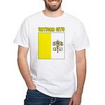 Vatican City Flag White T-Shirt