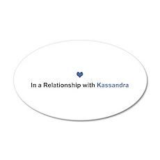 Kassandra Relationship 20x12 Oval Wall Decal