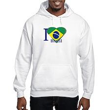 I Love Brazil flag Hoodie