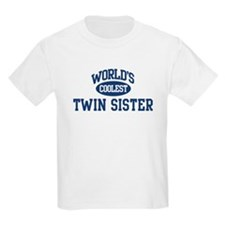 Coolest Twin Sister Kids T-Shirt