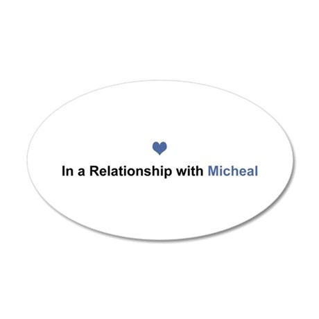 Micheal Relationship 35x21 Oval Wall Decal