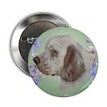 Clumber Spaniel Button