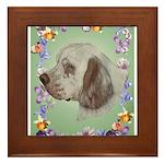 Clumber Spaniel Framed Tile