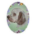 Clumber Spaniel Oval Ornament