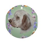 Clumber Spaniel Ornament (Round)