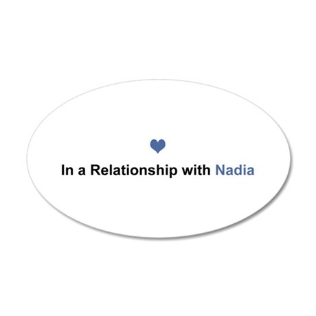 Nadia Relationship 35x21 Oval Wall Decal