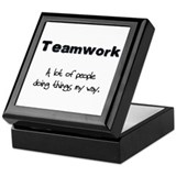 Teamwork - Black Keepsake Box