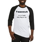 Teamwork - Black Baseball Jersey