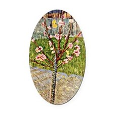 Van Gogh's Almond Tree in Blossom Oval Car Magnet