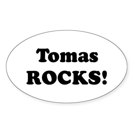 Tomas Rocks! Oval Sticker