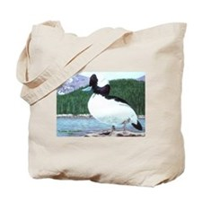 Sunning Bufflehead Duck Tote Bag