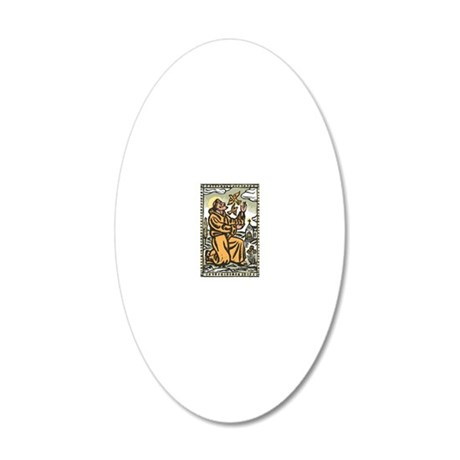 St. Francis 20x12 Oval Wall Decal