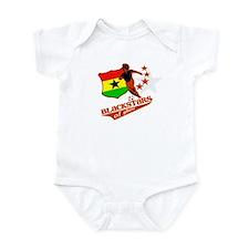 black stars of Ghana Infant Bodysuit
