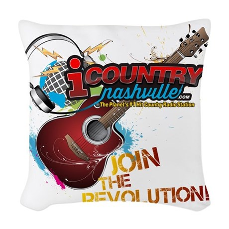 Join the Revolution Woven Throw Pillow
