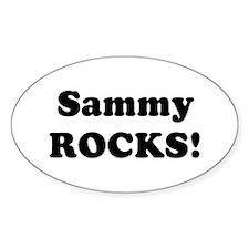 Sammy Rocks! Oval Decal