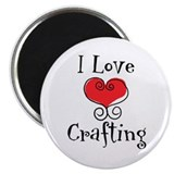 "I Love (heart) Crafting 2.25"" Magnet (100 pack)"