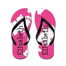 Personalized Pink Flip Flops