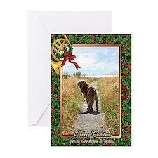 Golden Retriever Dog Christmas Greeting Cards