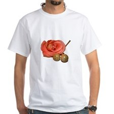 Rose with wooden percussion bell mallets cutout T-