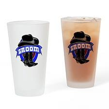 Cowboy Groom Drinking Glass