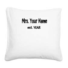 Vintage Mrs Square Canvas Pillow