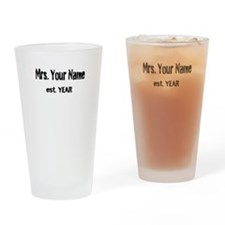 Vintage Mrs Drinking Glass