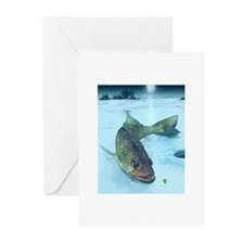 Walleye Ice Greeting Cards