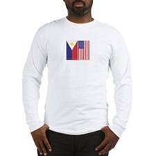 PI and US Flags Long Sleeve T-Shirt
