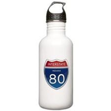 Indiana Interstate 80 Water Bottle