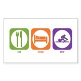 Eat Sleep Row Rectangle Bumper Stickers