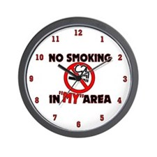 No Smoking in MY area Wall Clock