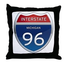 Michigan Interstate 96 Throw Pillow