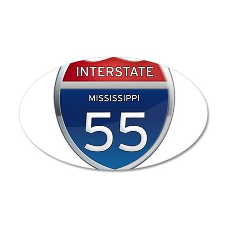Mississippi Interstate 55 Wall Decal