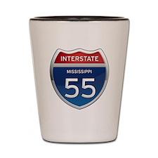 Mississippi Interstate 55 Shot Glass