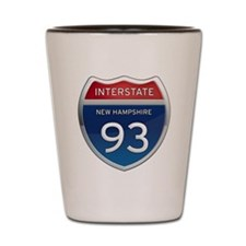New Hampshire Interstate 93 Shot Glass