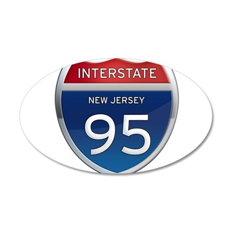 New Jersey Interstate 95 Wall Decal