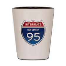 New Jersey Interstate 95 Shot Glass