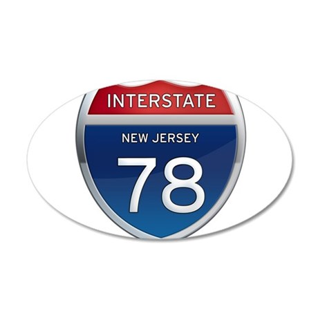 New Jersey Interstate 78 Wall Decal