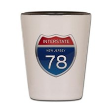 New Jersey Interstate 78 Shot Glass