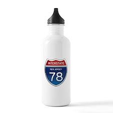 New Jersey Interstate 78 Water Bottle
