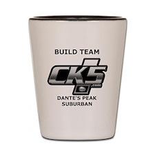 Build team logo Shot Glass