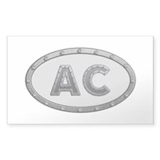 AC Metal Rectangle Sticker 10 Pack
