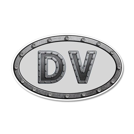 DV Metal 35x21 Oval Wall Decal