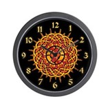 Celtic Knotwork Sun Wall Clock