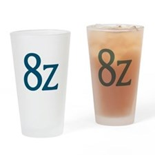 8z Logo Drinking Glass