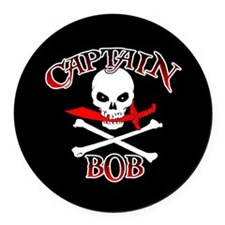 Captain Bob Round Car Magnet