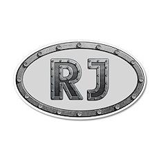 RJ Metal 20x12 Oval Wall Decal