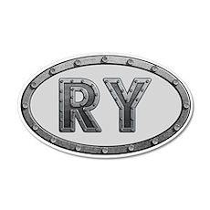 RY Metal 35x21 Oval Wall Decal
