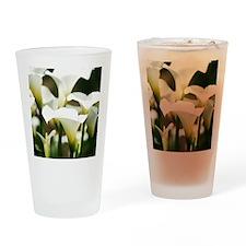 White Calla Lilies Drinking Glass