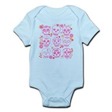 Mexican Pink Skulls Infant Bodysuit
